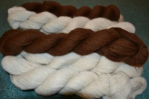 Spun yarn from Alfie and George